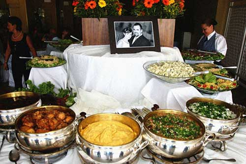 comida de casamento