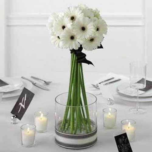 30 Sugestões de Enfeites de Mesa de Casamento Bonitos -> Enfeites De Mesa Para Casamento Com Suculentas