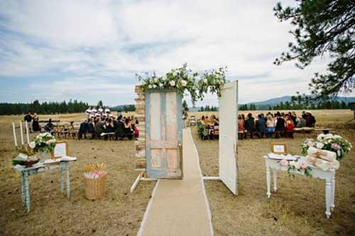 como decorar casamento country