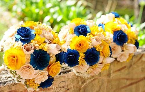 decoracao de igreja azul e amarelo : decoracao de igreja azul e amarelo:Decoração de Casamento Amarelo: Branco, Rosa, Azul, Preto