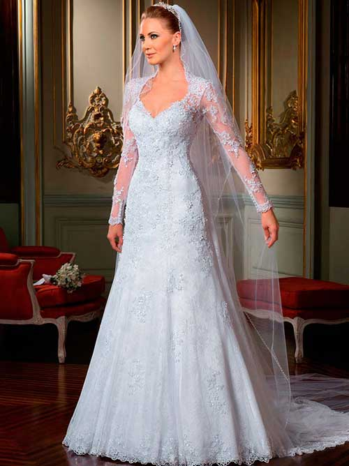 5d251e589f para entrar na igreja. Renda Francesa vestidos de renda para noivas