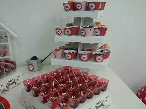 15 IDEIAS Decoraç u00e3o para Chá de Panela + Planejamento -> Decoração De Cha De Panela Vermelho E Branco Simples
