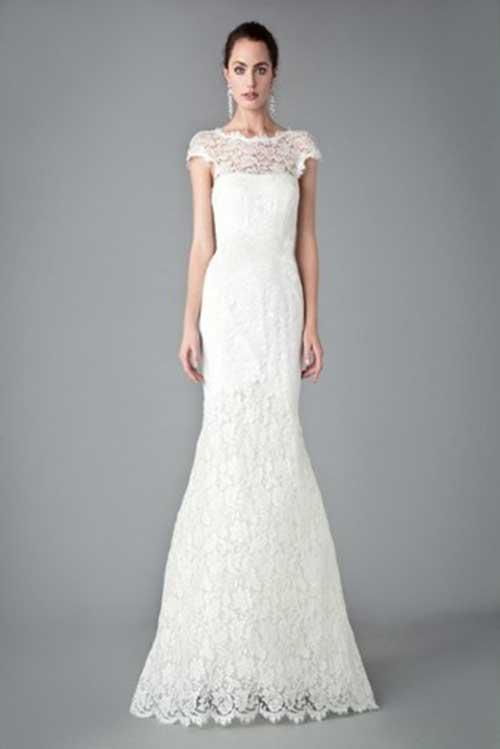 Vestido de casamento simples renda