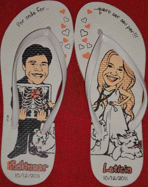 para noivos Chinelos personalizados