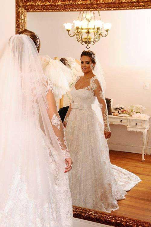 vestidos de casamento com manga comprida