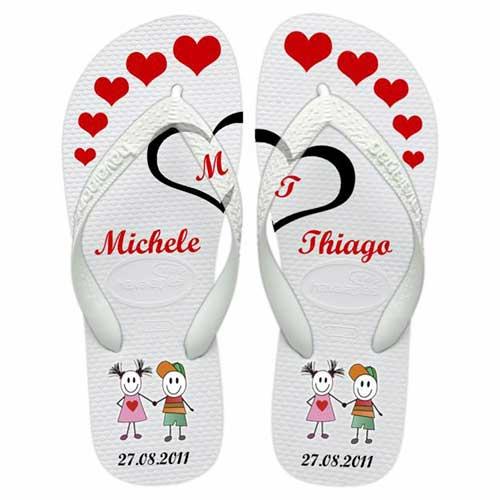 calçados Chinelos personalizados