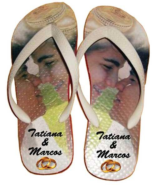 sandália havaianas Chinelos personalizados
