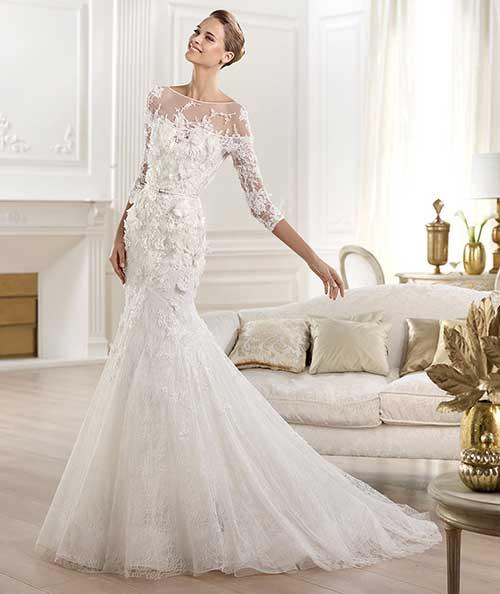 97811f601 Pois bem, vamos voltar ao vestido sereia. Esse modelo, como dito antes,  valoriza as curvas da mulher e deixa a impressão de que você é mais alta.