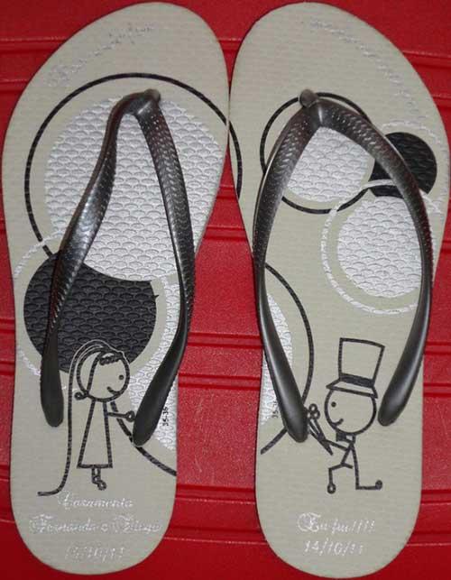 Chinelos Personalizados para Casamento  Chinelos personalizados