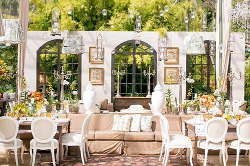 decoração de casamento ao ar livre