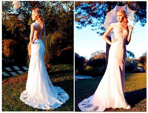 Vestido de noiva para festa ao ar livre