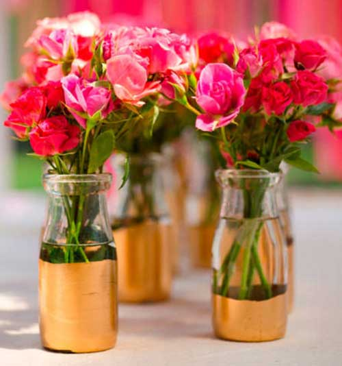 Fotos de arranjos de mesa para casamento simples 30