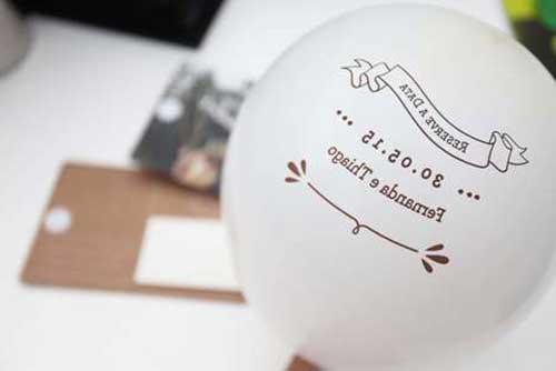 balões com convite
