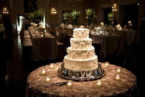 GUIA Decoraç u00e3o para Mesa do Bolo de Casamento -> Decoração De Mesa Do Bolo Para Casamento Simples