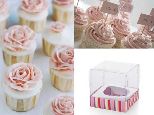 cupcake com rosas