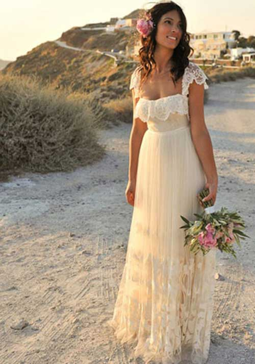 Vestidos simples para casamento a tarde