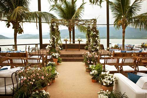 decoraçao de casamento na praia rustico