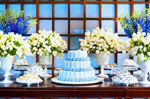 bolo azul de pasta americana