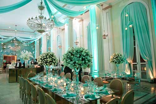 Casamento Azul no salão