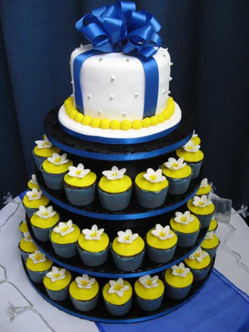 decoracao de casamento na igreja azul e amarelo:Decoração de Casamento Azul e Amarelo: Fotos + Dicas!