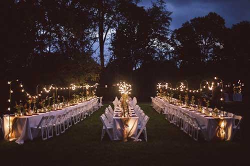 Casamento no Sítio de Noite Dia Decoraç u00e3o + Fotos! -> Decoração Para Festa De Casamento Em Sitio A Noite