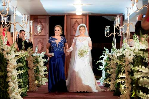 entrada da noiva em fotografias