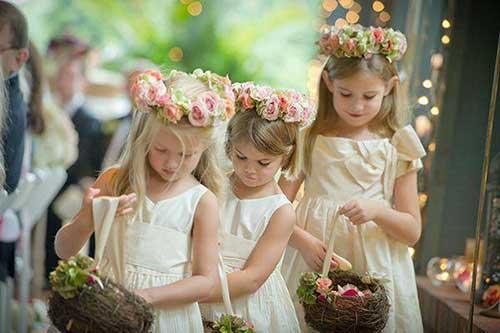 entrada da noiva com filhos