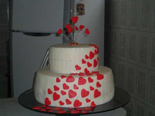 bolo de noivado decorado