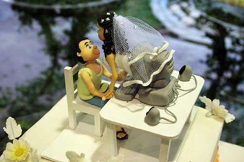 Mini Bolo de Casamento