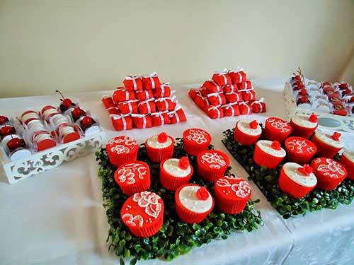 de morango e frutas vermelhas