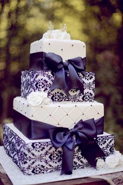 35 Modelos de Bolo de Casamento Quadrado (Fotos)