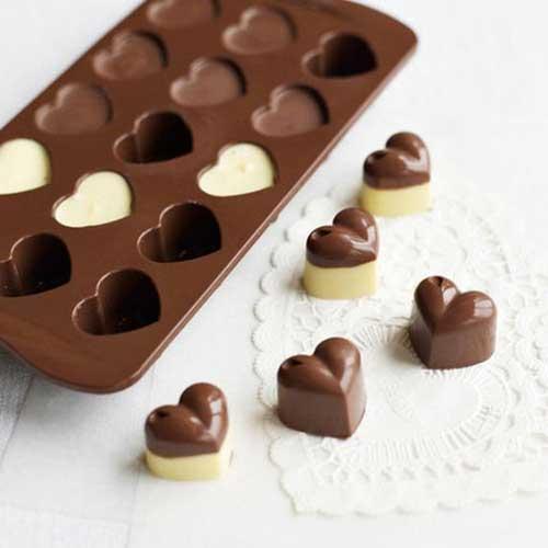 chocolate em formas