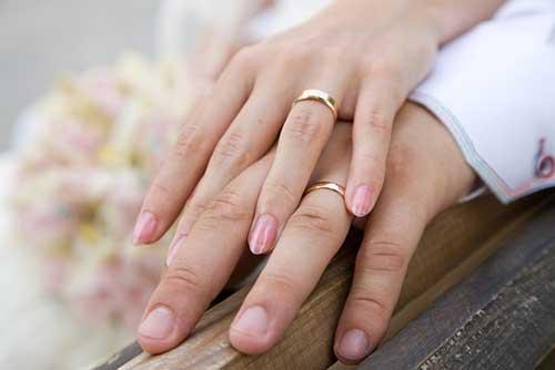 fotos de alianças de noivado
