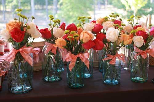 vasos de flores