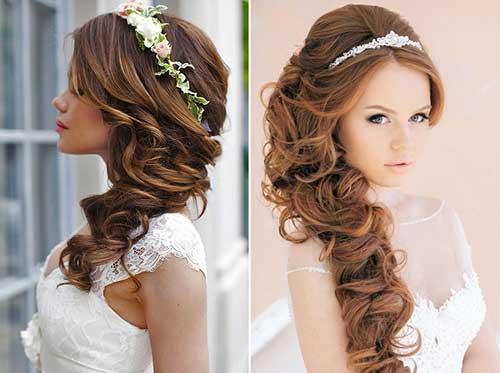 penteados solto com tiara de noiva