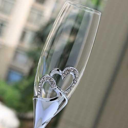 de cristal ou vidro real