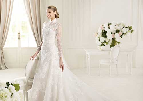 Vestidos de Noiva Gola Alta