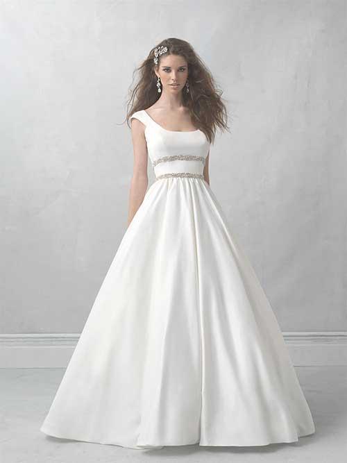 modelos de vestidos lisos para noivas