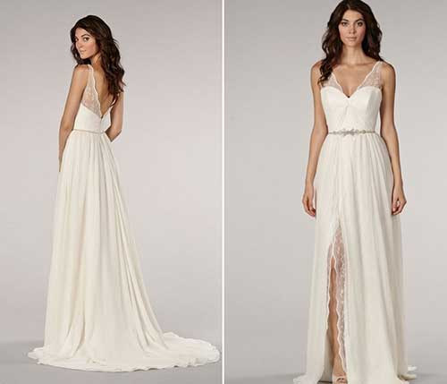 Vestido longo liso para casamento