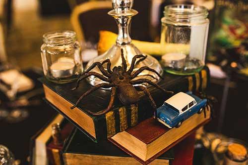 vidros e livros