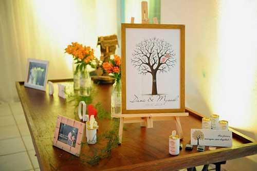 Árvores de Digitais no Seu Casamento