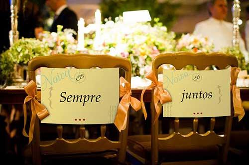 para os noivos