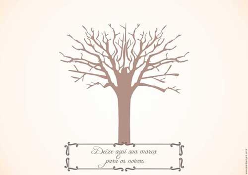 Árvores de Digitais no Casamento