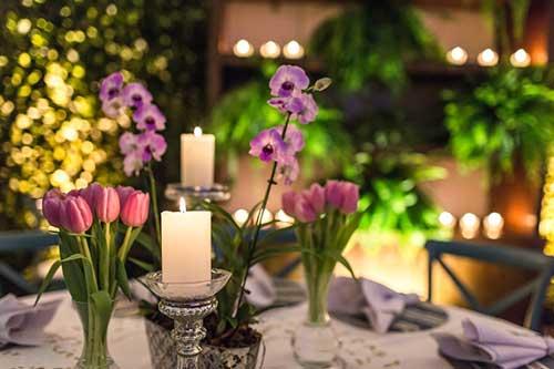 decorar com tulipas