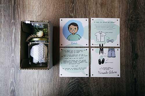 Convites de Casamento para Pajens e Daminhas