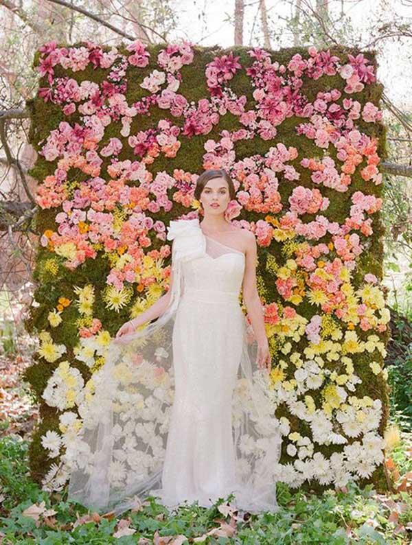 fotos de parede de flores