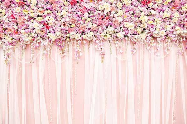 parede de flores