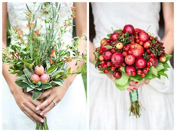 fotos de buquê com frutas