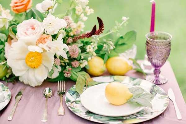 fotos de decoração com frutas