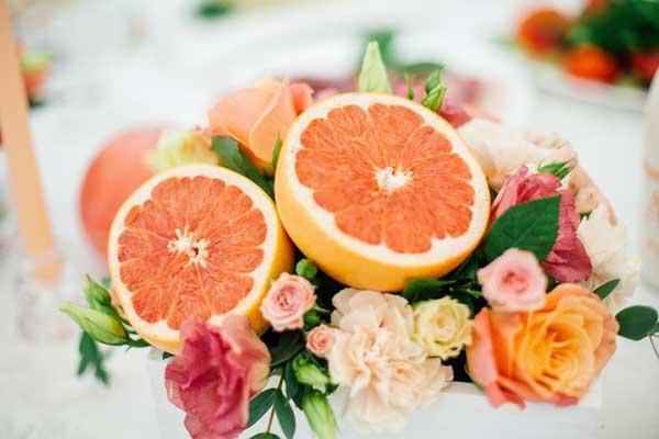 decoração com frutas para casamento